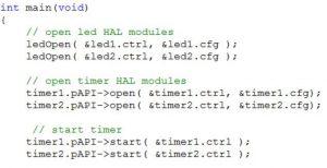 Applikation mit Hardware Abstraction Layer /HAL-Aufrufen