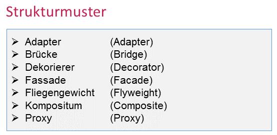 Strukturmuster - Design Patterns