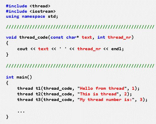 unterschiedlich parametrierte Threads mit identischer Thread-Funktion